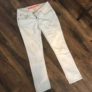 Dollhouse distressed light wash ankle jeans size 1
